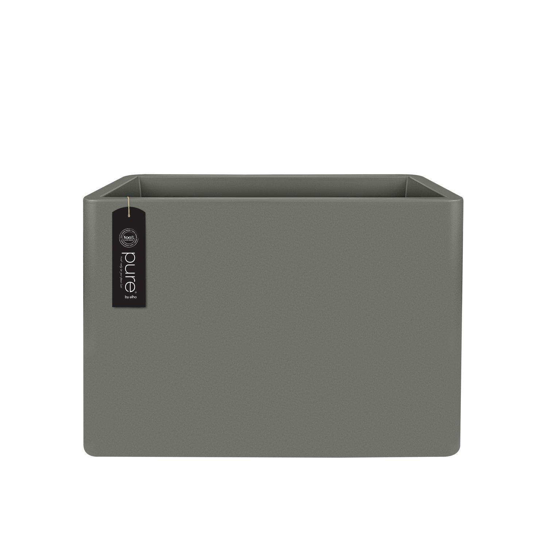 ELHO Blumentopf pure soft brick divider mit Rollen, 80 cm, grau