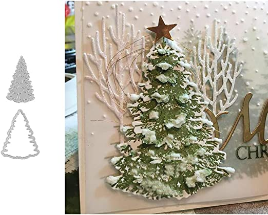 Christmas Tree Metal Cutting Dies Stencil Scrapbooking Embossing Album Craft