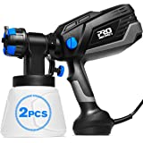PROSTORMER Paint Sprayer, 1L/min 600W Hvlp Electric Paint Spray Gun with 3 Spraying Patterns, 4 Nozzle Sizes, 2Pcs 1000ml Det