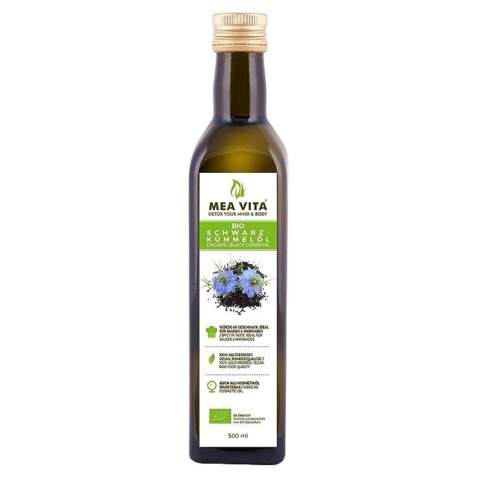 Aceite de comino negro orgánico MeaVita, prensado en frío, 1 paquete (1 x