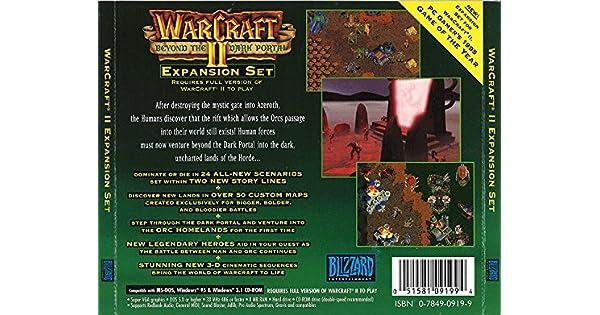 Amazon Com Warcraft Ii Beyond The Dark Portal Jewel Case Video Games