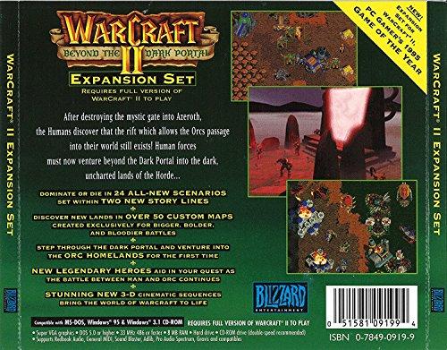 Amazon Com Warcraft Ii Beyond The Dark Portal Jewel Case