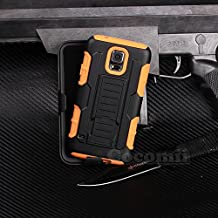 Galaxy S5 Active Case, Cocomii Robot Armor NEW [Heavy Duty] Premium Belt Clip Holster Kickstand Shockproof Hard Bumper Shell [Military Defender] Full Body Dual Layer Rugged Cover Samsung G870 (Orange)