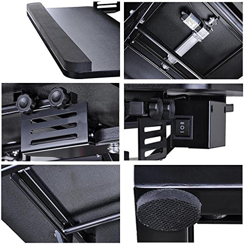 Koval Inc. Height Adjustable Electric Motorized Computer Sit-to-Stand Desk (Black) by KOVAL INC. (Image #4)
