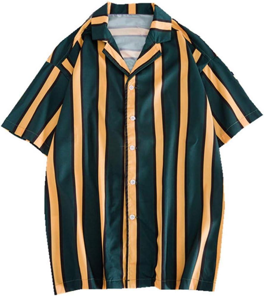 ღLILICATღ Camisas Hombre Manga Corta Hawaiana Camisa Línea de Verano a Rayas de Camisa Ligera Transpirable: Amazon.es: Deportes y aire libre