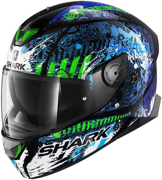 Shark Skwal 2.2 Replica Switch Riders 2 KAS Full Face Helmet Black Anthracite Grey XS