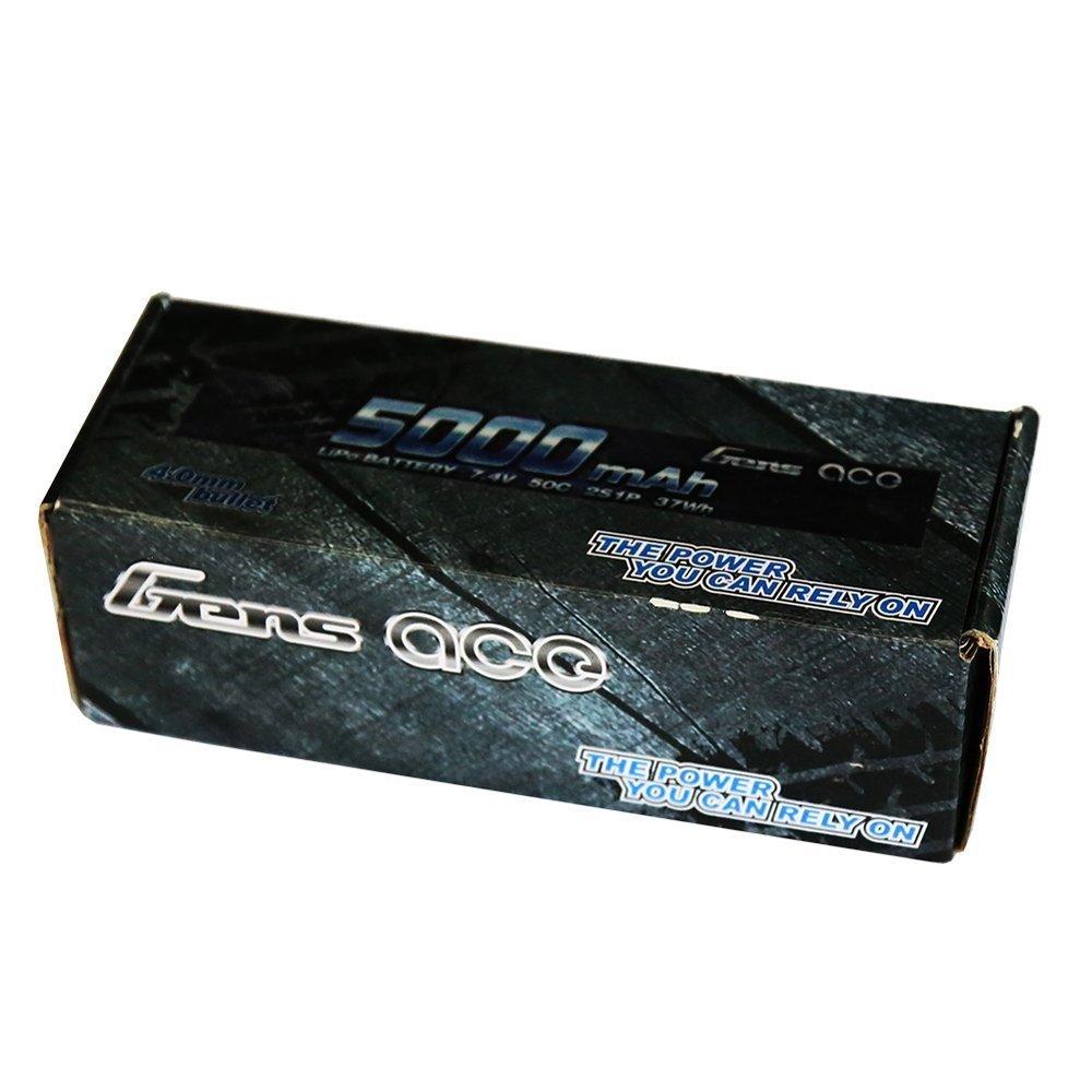 Gens ace 5000/mAh 7.4/V 50/C 2S1p Lipo bater/ía Pack Traxxas Connector for Modelismo RC Car Truggy Plane Boat Truck Auto Cami/ón Avi/ón toyseug Toys