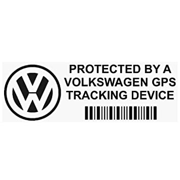 108ddb1cab Platinum Place 5 x PPVOLKSWAGENGPSBLK GPS BLACK Tracking Device Security  WINDOW Stickers 87x30mm-Car
