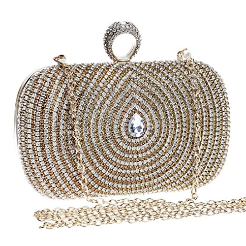 bag clutch Color Women's crossbody Diamond KERVINFENDRIYUN ladies Gold Gold dress bag handbag purse evening luxury Pqf7wd0Sn