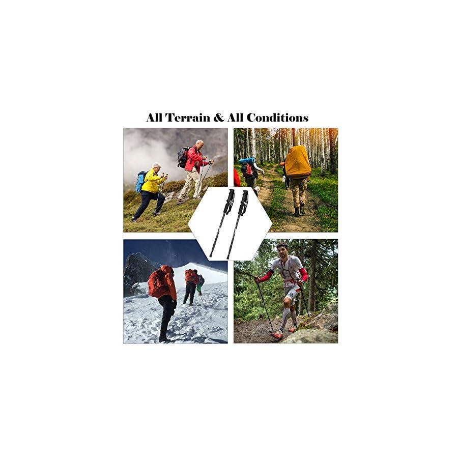 KevenAnna Trekking Pole Sticks for Walking Hiking Camping