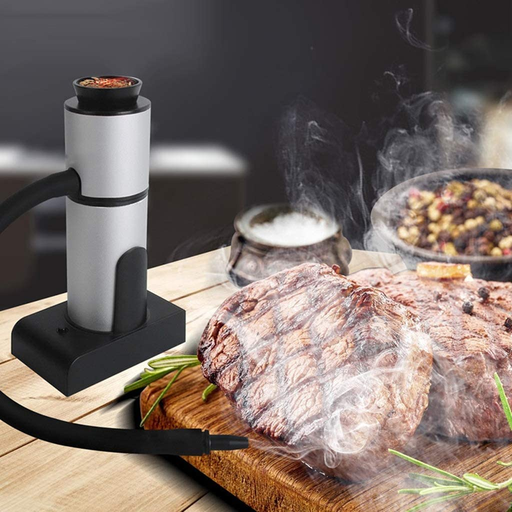 GaoYunQin Handy Cold Smoker, Handheld Smoke Gun for Smoking Food, Smoke Infuser Adds Real Wood Smoked Flavor to Food & Drink, Foodie Accessories Gift