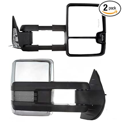1988-1998 Chevy GMC C//K 1500 2500 LED Signal POWER Towing Side Mirrors PAIR