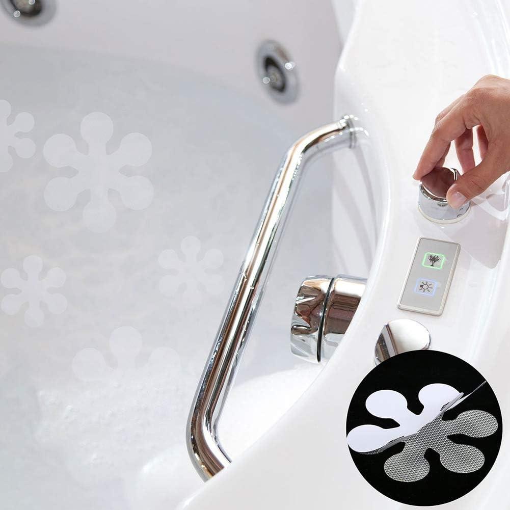Byilx Autocollants antid/érapants pour baignoire Motif flocons de neige Taille unique Lot de 12