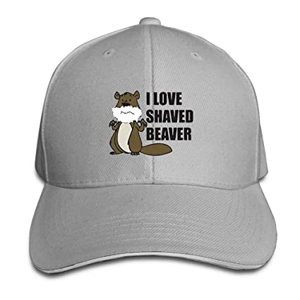 A Shaved Beaver Saying Adult Cool Adjustable Peaked Cotton Baseball Hats  Ash at Amazon Men s Clothing store  7d6803bfa928