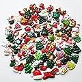 Mosheng Accessory 20pcs Mix Lots Christmas Tree Resin Flatback Button Art Album Flatback Scrapbooking Embellishments DIY Scrapbooking Craft Accessory