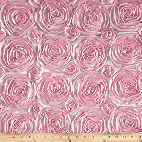 - Ben Textiles Inc. Wedding Rosette Satin Pink