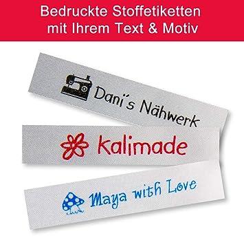 RAHMEN Textiletikett zum Nähen 75 gewebte Textiletiketten mit TEXT SYMBOL