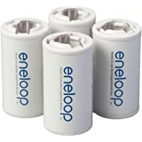 Panasonic BQ-BS2E4SA Eneloop C Size Spacers for Use with Eneloop Ni-MH Rechargeable AA Battery Cells, 4 Pack