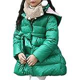 Giubbotto Bambina Invernale Giubbotto Pelliccia Cappuccio Bimba Giacca  Invernali Capispalla Cappotti Bambini Inverno Giacche Calde Bownot 0c2a65252dc