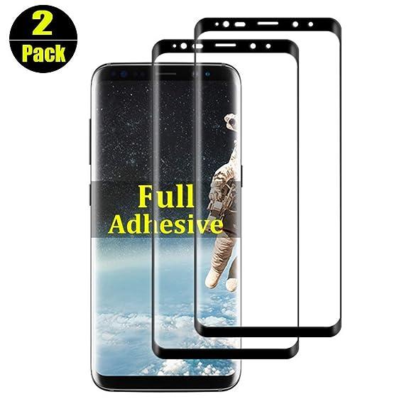 Amazon.com: 2-Pack 【Full Adhesive】 S8 Plus Screen ...