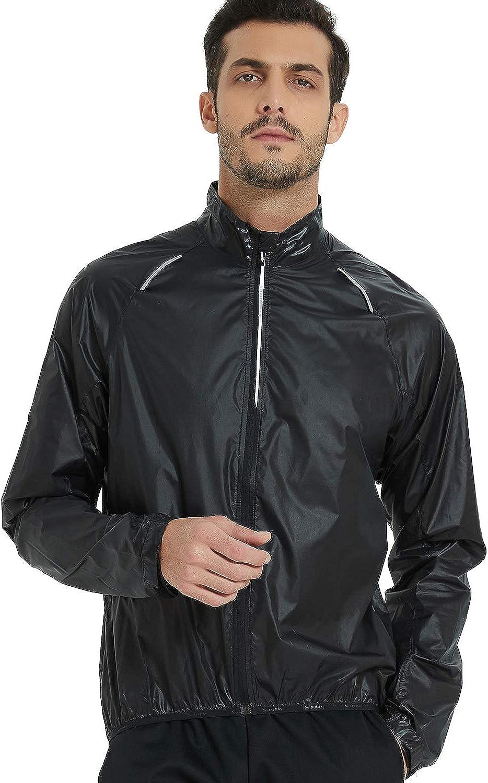 Santic Mens Cycling Jacket Lightweight Bike Jersey Windbreaker for Men