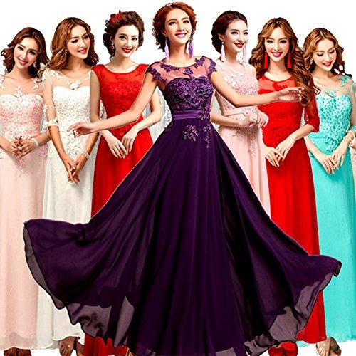 Violett June's Grün Young Rot Cocktail Kleid Hochzeit Party Abendkleid 2 Brautkleid q8wZBqrgn