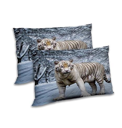 RADANYA Cilindro de Anya Tiger Impreso Almohada Set Color ...