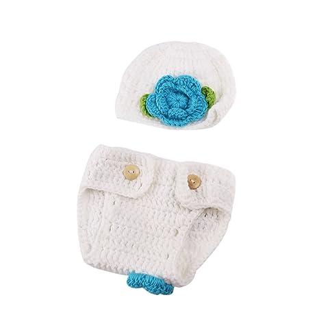 WINOMO bebé bebé recién Nacido Gorro de Crochet Disfraz fotografía ...
