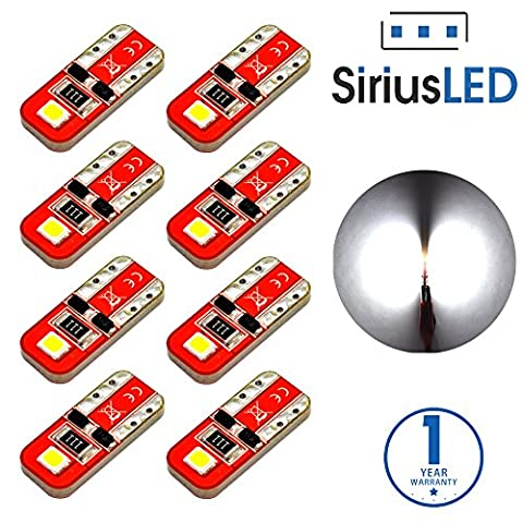 SiriusLED Red Dragon Series Ultra Compact Extremely Bright Double Sided 3030 SMD 400 Lumen Auto LED Interior Light Bulbs Size 194 168 2825 Pure White Pack of - 1995 Oldsmobile 98 Series