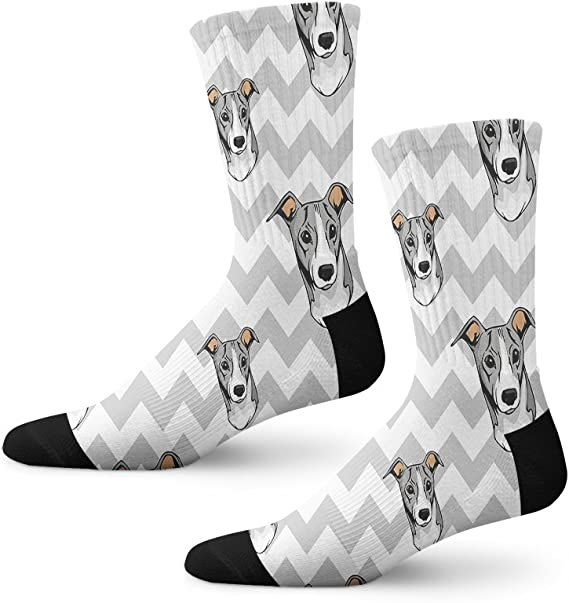 Greyhound Socks One Size Fits Most Soft Combed Cotton