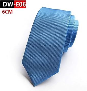 DYDONGWL Corbata Fina Hombre,6cm Color sólido Vino Azul ...