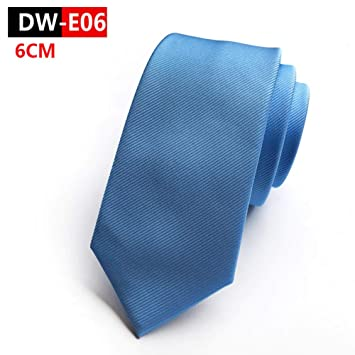 DYDONGWL Corbata Fina Hombre,6cm Color sólido Vino Azul Negro ...