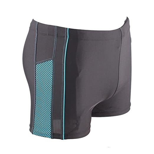 1fda0b8f1 Amazon.com: Fanceey Men Spandex Swimming Trunks Slim Boxer Swimming Shorts  Front Tie Water Black: Clothing