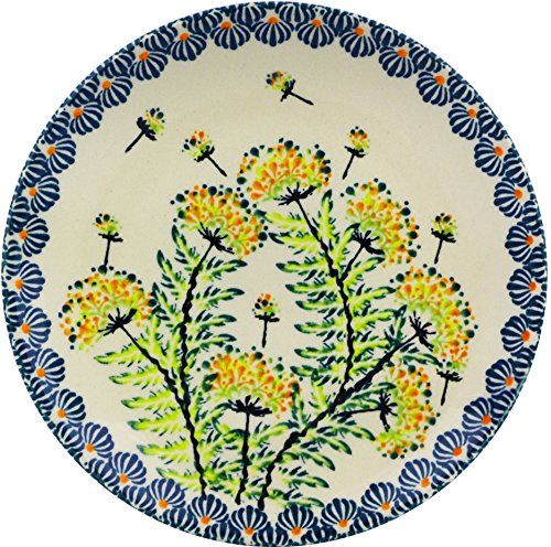 Pottery Dessert (Polish Pottery Dessert Plate 6-inch (Yellow Dandelions Theme))