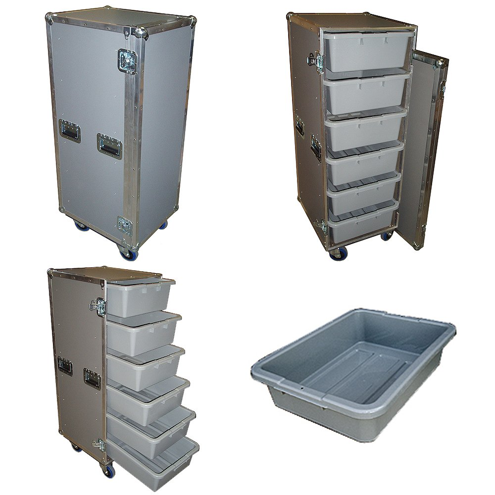Drawer Workbox - 6 Large Tub - Drawer Heavy Duty 3/8 Ply ATA Case with Wheels