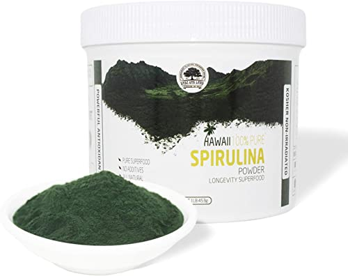 DOL-Spirulina Powder 16 Ounce ,Substitute protein powder,Fitness food,Highest Quality Spirulina on Earth