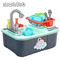 Wowok Play Kitchen Sink Toys with Running Water Deals