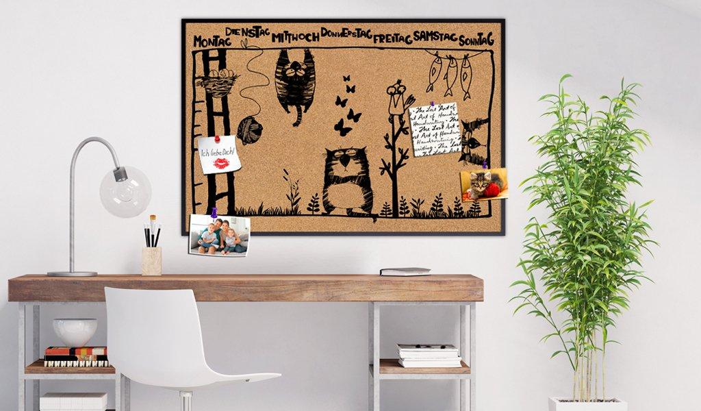 murando - Pinnwand Kalender 60x40 cm - Wandbilder als Korktafel ...