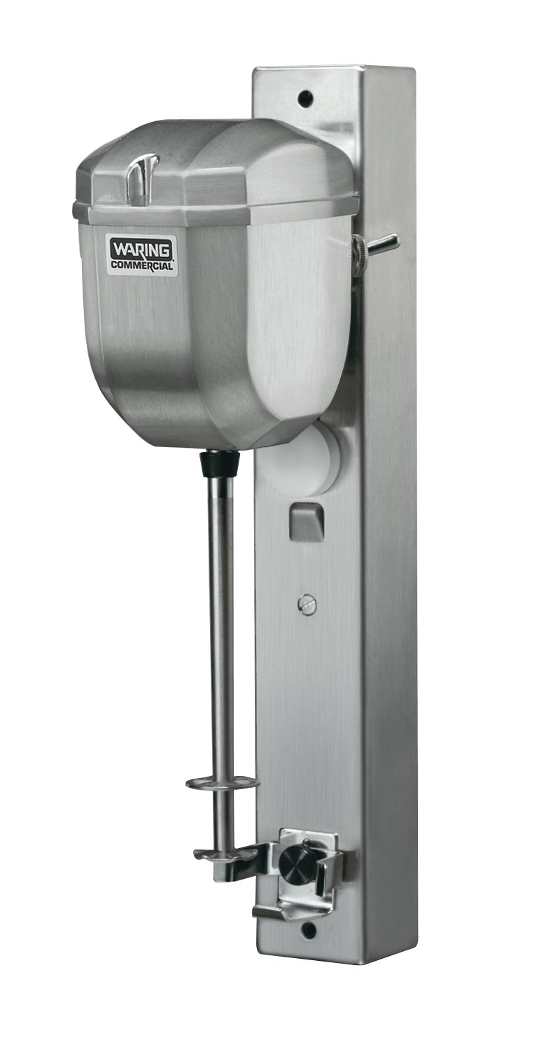 Waring Commercial DMC180DCA Heavy Duty Die Cast Metal Wall Mount Drink Mixer Silver, 8.75 x 4.5 x 14.75 inches