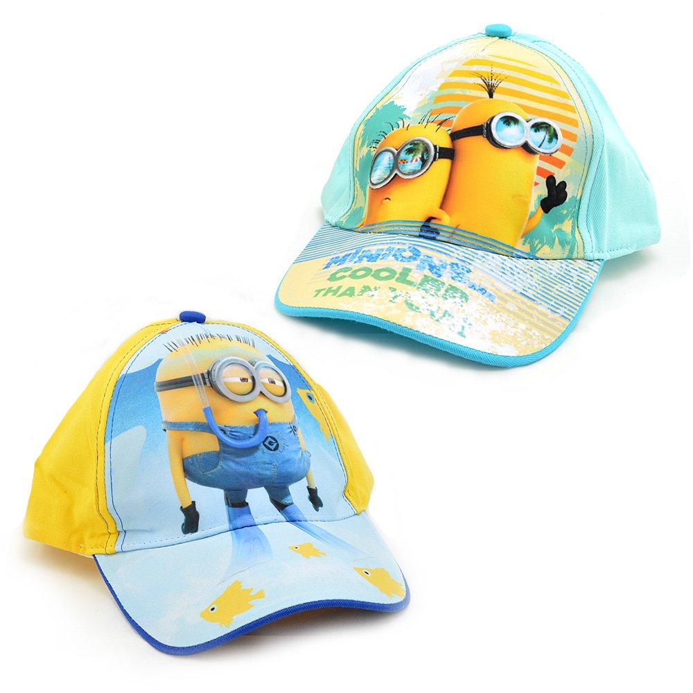 Cappello bambini in cotone con visiera Minions regolabile cod  976  Turchese  Amazon.it  Abbigliamento 23139227aab1