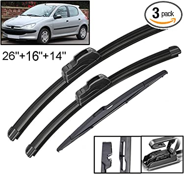 PEUGEOT 406 REPLACEMENT WINDSCREEN//WINDOW WIPER BLADES PAIR OF