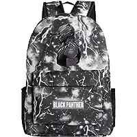 Mochila para portátil con diseño de la Pantera Negra de los Vengadores de Marvel, mochila escolar para niños, Negro (black Lighting), Una talla