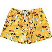 BriskyM Niño Bañador Natación Shorts de baño para niños Fruta de piña Impresión de Dibujos Animados de la Hoja Casual…