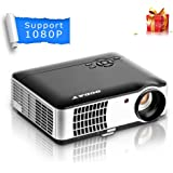 2800 Lumens Video Projector, OCDAY 5.0 Inch LCD TFT Display 1280x768 Resolution Support 1080P by USB HDMI VGA AV Compatible with Home Cinema Theater TV Laptop Game iPad iPhone Android Smartphone