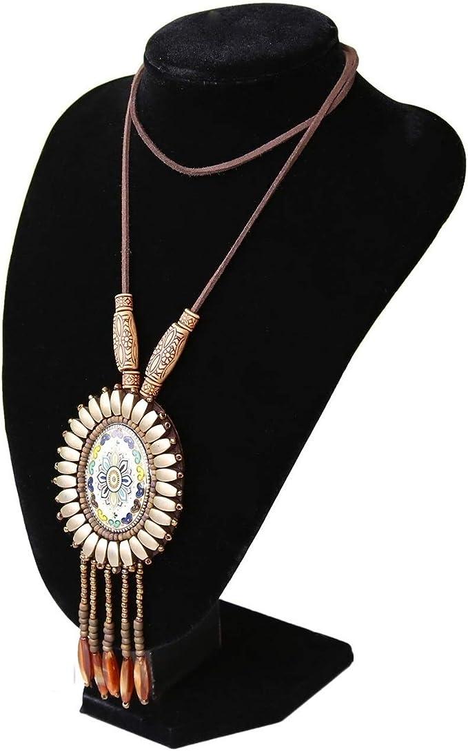BLACK VELVET Large Bust Narrow Necklace Chain Bracelet Jewelry Holder Display