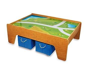 Spieltisch / Kindermöbel aus Holz inkl. 2 Aufbewahrungsboxen aus ...