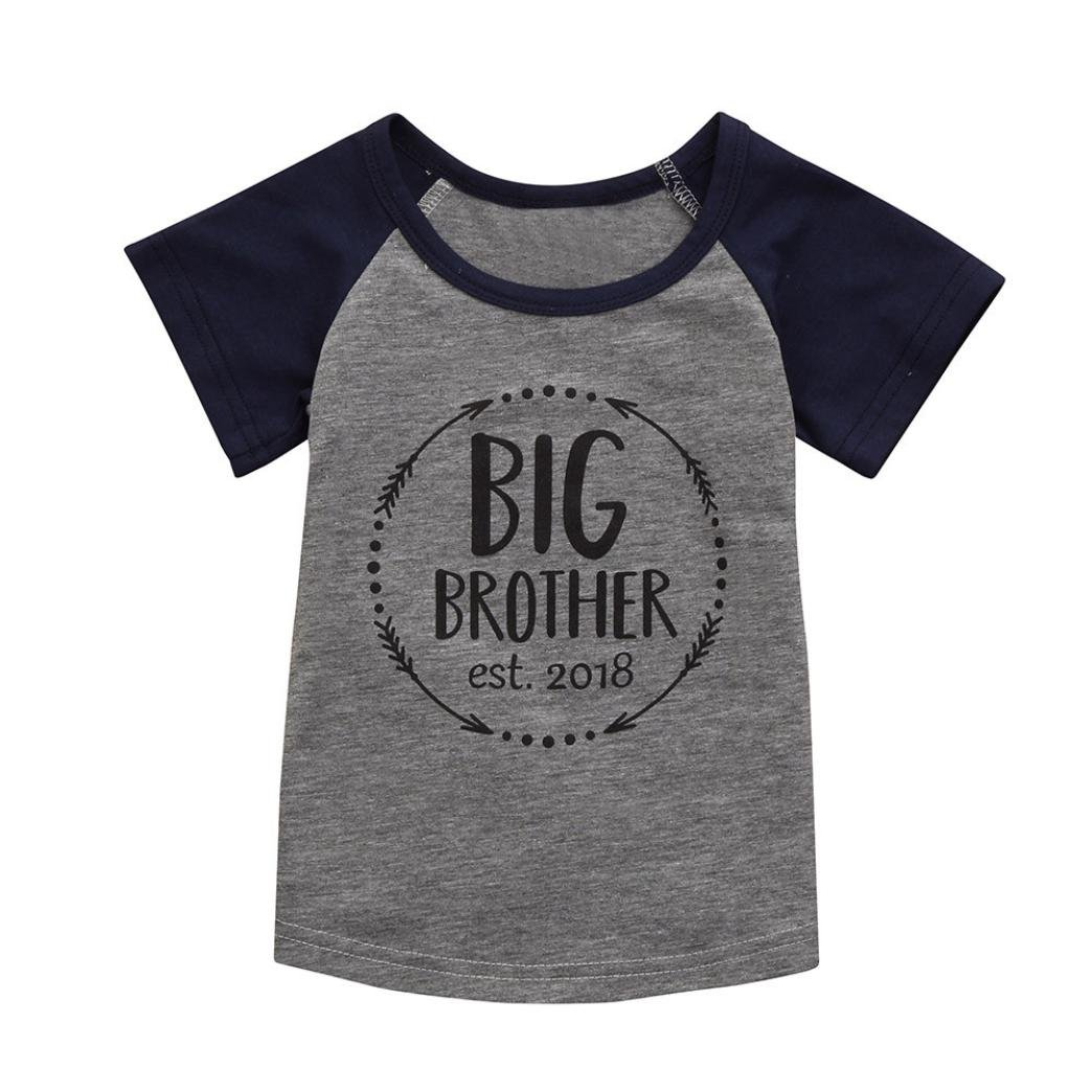 77d1bf97cbc Amazon.com  Lurryly 2019 Baby Boy Printing T-Shirt Cotton Short Sleeve  Summer Tops Toddler Kid Shirts Tee 3-6T White  Clothing