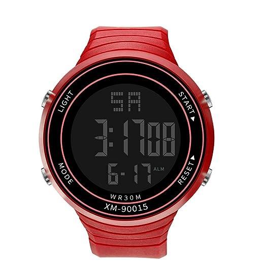 Dylung Reloj Deportivo para Hombre Mujer LED Reloj de Pulsera Unisex Relojes de Hombres Militar Inteligente Digital Cuarzo Japonés Multifunciónal Resistente ...
