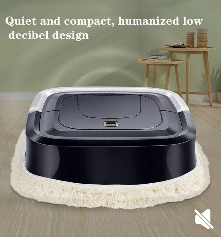 ZHANG Robot de Balayage, Machines de Nettoyage Domestique Gadgets de Nettoyage robotiques intelligents pour Appartements, Petite Maison, Sol Dur, Tapis à Poils Ras,Noir Black