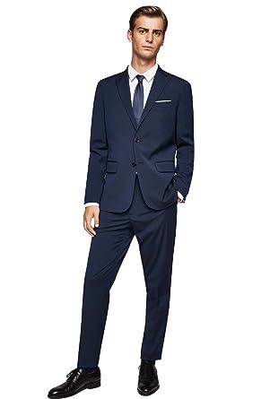 Dressvip Branché Costume Homme Mariage Cérémonie 2018 Couleur Unie Bleu  Marine 2 Pièces Veste Pantalons bc8186d04c6